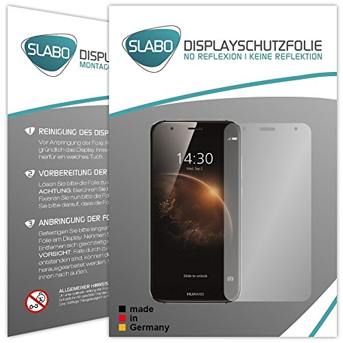 2 x Slabo protector de pantalla Huawei G8 / GX8 lámina protectora de pantalla (protector de pantalla reducido, a causa de la pantalla curvada)