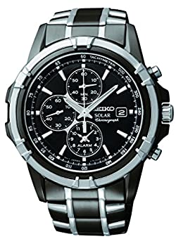 Seiko Men s SSC143 Stainless Steel Solar Watch with Link Bracelet