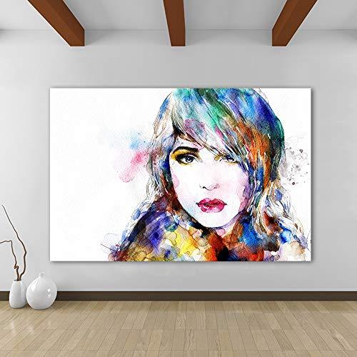 sanzangtang Rahmenlose Malerei Mädchen Leinwand Kunst Wandbild Moderne Malerei für Wohnzimmer HauptdekorationZGQ3953 60X80cm