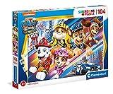 Clementoni Supercolor Paw Patrol The Movie 104 Piezas-Made in Italy, niños 6 años, Puzzle Carton, Multicolor (27529)