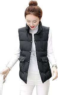 BOZEVON Women's Quilted Gilet - Casual Warm Winter Autumn Vest Down Sleeveless Jacket Outwear Bodywarmer Coat