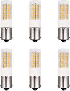 Makergroup 1156 1141 1139 1383 BA15S S8 SC Bayonet Single Contact Base LED Light Bulbs for Boat Marine Lights, RV Camper Trailer Automotive Light Bulbs, Works on 12V&24V, Cool White 6-Pack