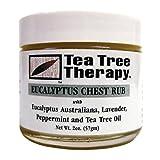 Tea Tree Therapy Eucalyptus Australian Chest Oil, Lavender Peppermint and Tea Tree, 2 Ounce