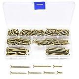 200 Piezas M4 Tornillo autorroscante de rosca gruesa, tornillo para madera Tornillo para paneles de yeso, 4 mm x (16/20/25/30/35/40/50 mm), Aacero galvanizado