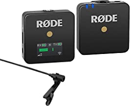 Rode Wireless GO Compact Microphone System Includes Tansmitter and Receiver - with Lav Condenser OmniDirectional Lavalier/Lapel Microphone