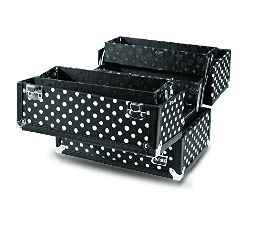 Cute POLKA DOT Beauty Organizer cosmetica opslag haren | Caboodles Charmed 4 dienblad