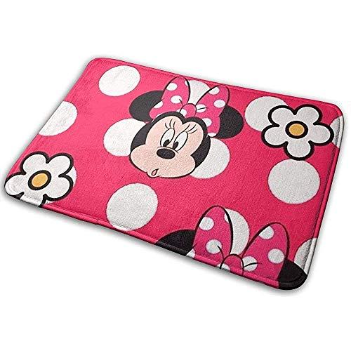 Welkom deurmat Minnie Mouse met bloem Indoor Outdoor ingang tapijt voetmatten schoenafveegmachine 40cm x 60cm