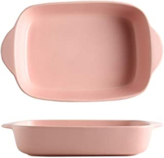 Oven to Table Dishes Cooking Baking Dish for Lasagne Casserole,23.3X14X4.5 Cm gifts (Color : Pink)