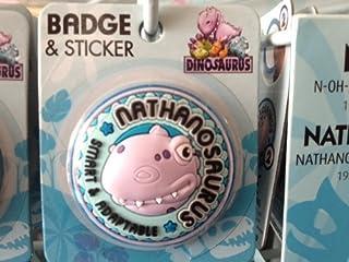 Nathan–Dinosaurus personnalisée Nom Badge