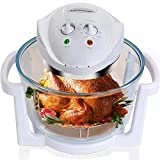 Air Fryer, Counter Top Toaster Oven, Convection Oven with Glass Bowl, Easy to Clean, Halogen Heating Element, XL to 18...