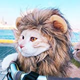 Ginfonr Lion Mane Costume for Cat & Dog, Costume Pet Wig Hat Halloween Cosplay Party Accessories Head Wear with Ears for Small Middle Large Cats