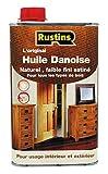 Rustin's Aceite danés para todo tipo de madera interior y exterior - Claro - 500ml - DANO500FR