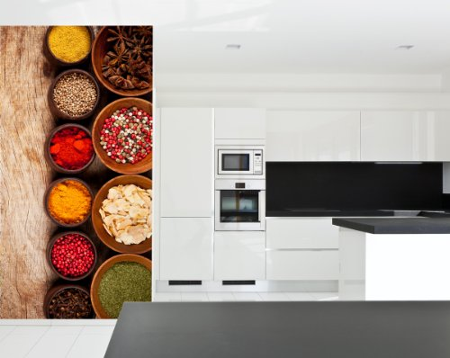 Fotobehang Spicy in 3 materialen naar keuze - Made in Germany - specerijen Indiaas culinair keuken kitje
