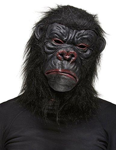 Vegaoo - Máscara Gorila Negro Adulto - Única
