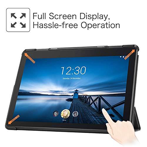 Fintie Hülle für Lenovo Tab E10 - Ultradünne Superleicht Schutzhülle mit Standfunktion für Lenovo Tab E10 TB-X104F 10,1 Zoll Tablet 2019(Nicht für Lenovo Tab M10), Schwarz