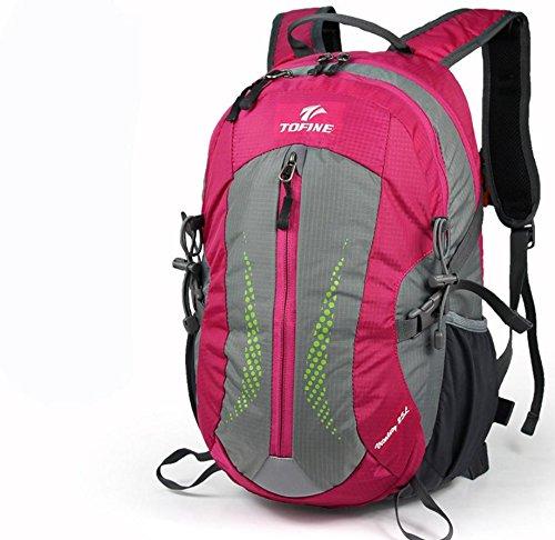 Nouveau sac à dos plein air randonnée sac 25L hommes et femmes casual, sac à dos moyens sacs extérieurs , rose red