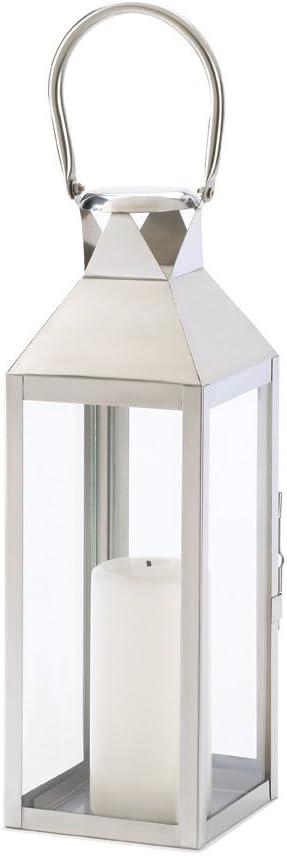 Manhattan Polished Silver Tone Candle Super intense SALE High quality Hanging Lantern