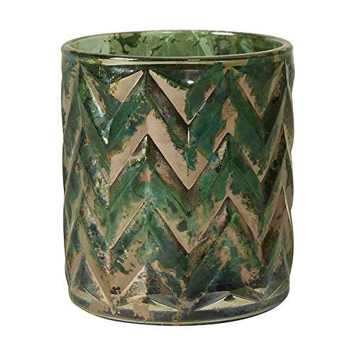 Speedtsberg Teelichthalter aus Glas mit Schliff, grün