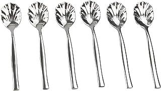 Idomy 12-Piece Stainless Steel Shell Shape Sugar Spoon