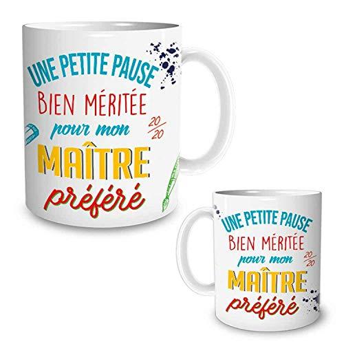 STC - Taza con texto en inglés 'Maitre Une Petit Pause 20/20'