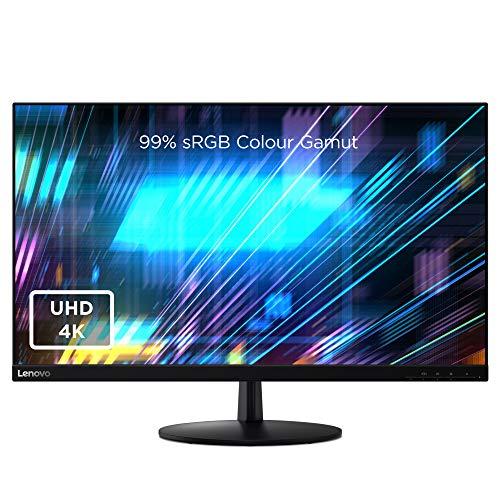 Lenovo L28u-30 28 Inch 4K Monitor (IPS Panel, 60 Hz, 6 ms, HMDI, DP) Tilt Screen, Raven Black