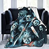 Horror Blanket,Michael -Myers Halloween Horror Bed Blankets Bed Throws Soft Plush Warm Sofa Bed Blanket All Season, Comfortable Lightweight Super Soft Luxury Bed Blankets