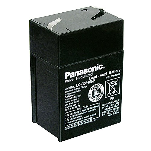 Akku-King Bleiakku Panasonic Industrial LC-R064R5P für USV Anlagen, Notbeleuchtung, Alarmanlagen - VDs-zugelassen - PB 6V 4500mAh