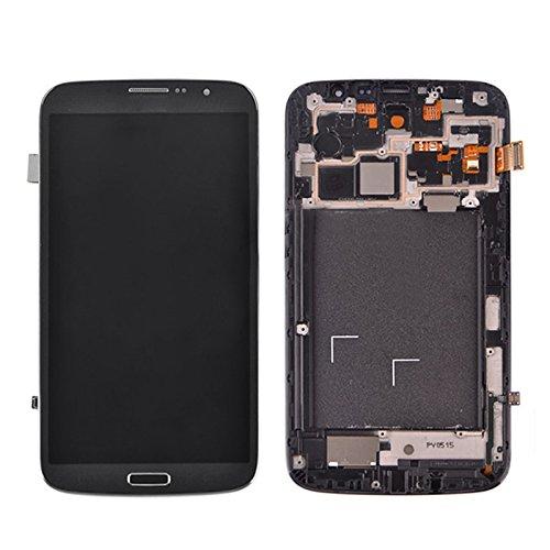 Pantalla LCD del teléfono móvil Pantalla LCD (TFT) Asamblea de digitalizador de pantalla táctil con reemplazo de marco para Samsung Galaxy Mega 6.3 / i9200 / i9205 Pantalla LCD ( Color : Black )