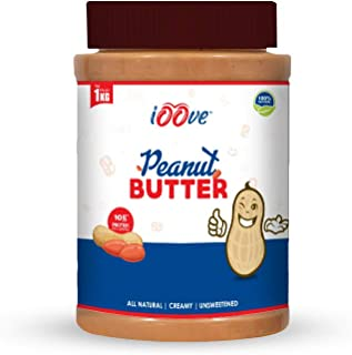 iOOve Natural Peanut Butter | CREAMY | 100% Natural | No Added Sugar | 1 Kg