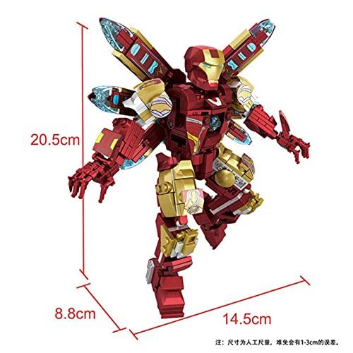 ASDFG 427 Uds, Figuras de acción, Ladrillos, Bloques de construcción de Juguete, superhéroes,Juguetes educativos de plástico ensamblados, Regalos