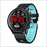 Smart Watch Activity Tracker Fitness Watch for Men Women Waterproof Heart Rate Monitor Watches Sleep Monitoring (Blue)