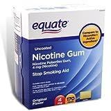 Equate Stop Smoking Aid Original Flavor Gum 4mg
