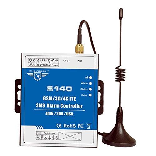 Baoblaze Controlador de Alarma GSM SMS, Interruptor de Relé Automático, Puerta de Estacionamiento de Coche, Máquina de Automatización, Kit de Control Remoto In