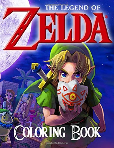 The Legend Of Zelda Coloring Book: 50+ Great Coloring Pages for Kids and Teens