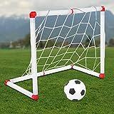 Jinyi Allenamento capacità Attiva coordinazione Fisica Porta da Calcio per Bambini, Set di palloni da Calcio, Ragazzi e Ragazze per Bambini di età Superiore a 18 Mesi