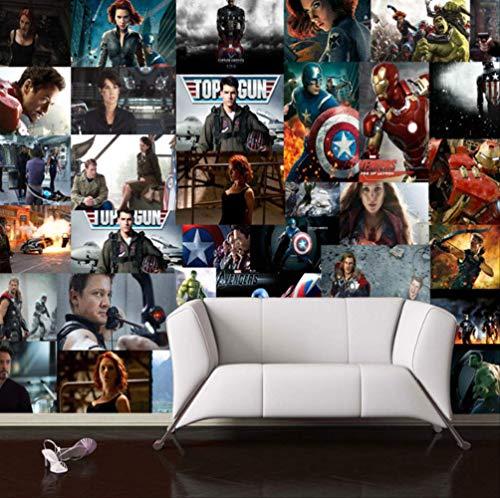 3d Vengadores Marvel Wallpaper Heroes Pared Mural Son America Foto Fondo De Pantalla Niños Dormitorio Habitación Decoración Tv Zoom 3d Wallp Aper Ancho 250cm s Altura160cm Un