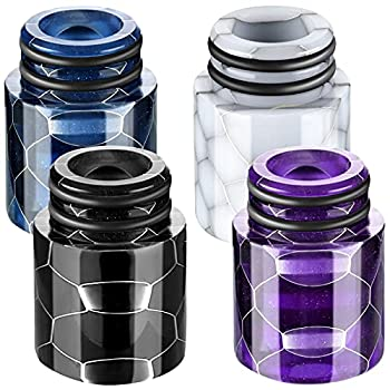 510 Resin Drip Tips Drip Tip Replacement Honeycomb Standard Drip Tip Resin drip connector tip for Ice Maker Coffee Machine  White Black Blue Purple,4 Pieces