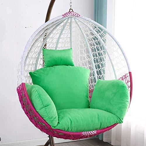 HEXEK Thicken Hanging Egg Hammock Almohadillas para sillas Cojines Impermeables para el Asiento de la Silla para Patio, jardín, Columpio, Cesta Colgante, Cojines para Asiento a (Color: S, Tamaño: