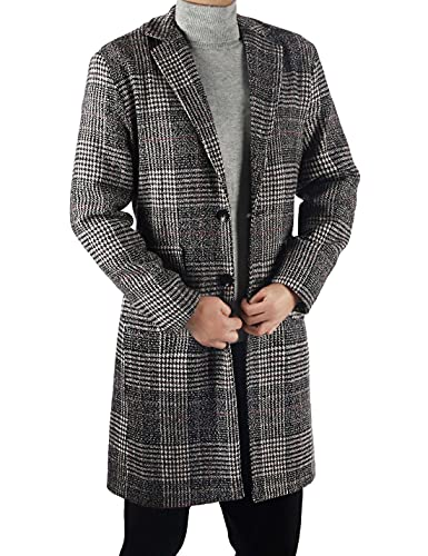 Plaid Mid long trench Coat