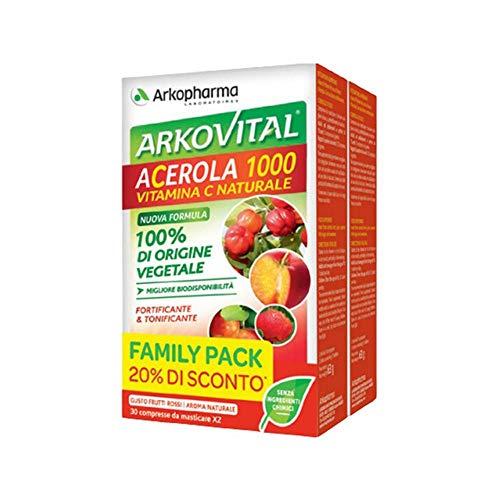 Arkopharma Arkovital - Acerola 1000 Vitamina C Naturale Family Pack, 60Compresse
