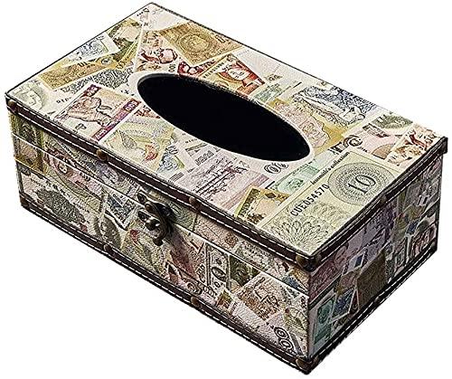 Caja de pañuelos de almacenamiento Decoración de almacenamiento Vintage Tissue Holder, Restaurante Mesa de comedor Decoración Caja de servilletas para el hogar, Caja de almacenamiento creativo multifu