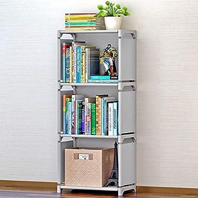 4 Tiers Nonwoven Fabric Kids Bookshelf Shelf Bookcase Small Waterproof Home Furniture  Children Books Closet Storage