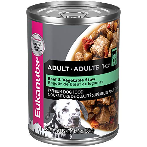 Eukanuba Wet Food 10154703  Adult Beef & Vegetable Stew Canned Dog Food (Case of 12), 12.5 oz