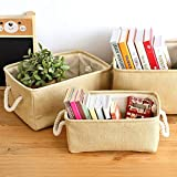 Best Quality - Storage Boxes & Bins - laundry storage basket cotton waterproof folding eco-friendly sundries clothes toy home storage organization box with cover - by Stephanie - 1 PCs