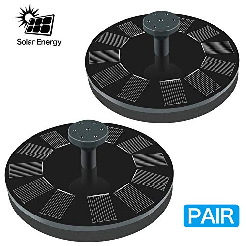 Solar Fountain, New Upgraded Mini Solar Powered Bird Bath Fountain Pump 1.4W Solar Panel Kit Water Pump, Outdoor Watering Submersible Pump for Pond, Pool, Garden, Fish Tank, Aquarium