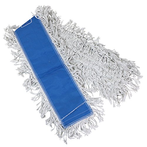 Tricol 38489 Launderable Replacement Dust Mop Head, Cotton, 5.5 x 48-Inch