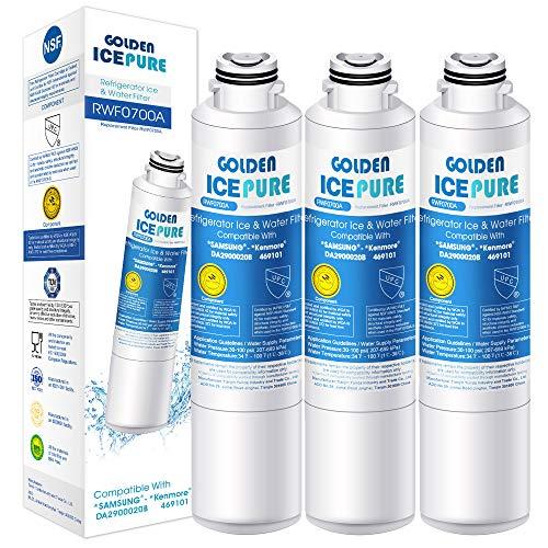 Kühlschrank Wasserfilter Ersatz für Samsung DA29-00020B, DA29-00020A, HAF-CIN/EXP, 46-9101, RF28HMEDBSR, RF28HFEDTSR 3 Stück von GOLDEN ICEPURE RWF0700A (rechnung vorhanden)