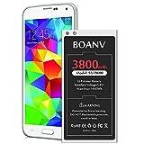 3800mAh Battery for Galaxy S5, BOANV Ultra High Capacity EB-BG900BBC Replacement Battery