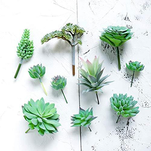 BBGSFDC 10 plantas artificiales suculentas sin maceta, mini plantas realistas falsas con textura sintética para decoración de paisaje del hogar