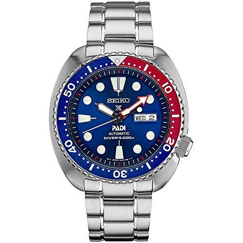 Seiko SRPE99 Prospex - Reloj para hombre (acero inoxidable, 45 mm), color plateado